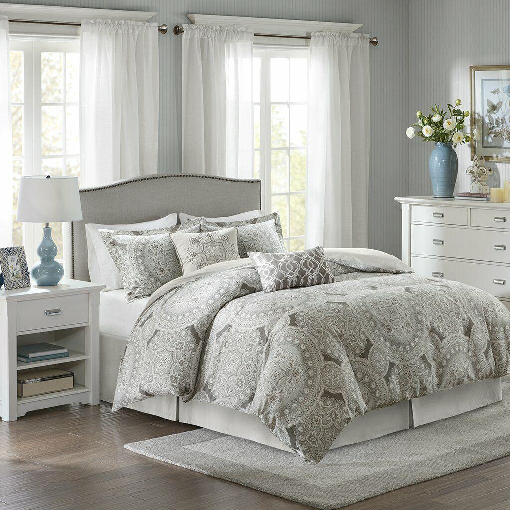 Harbor House Freida Comforter Set - 6Pcs grau 100% Cotton
