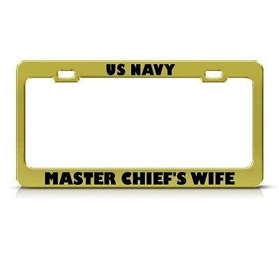 U.S Navy Master Chief Chrome License Plate Frame