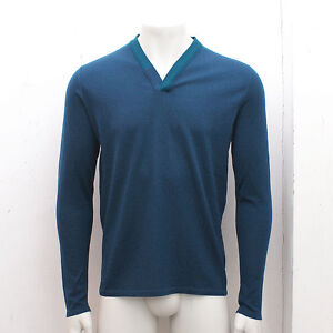 6f40c85fe4d Details about NEW Mens Balenciaga Blue V-Neck Sweater Knitwear GENUINE RRP:  £335