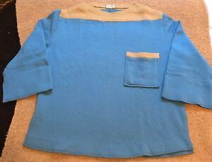 chiaro Vintage Maglione e chiaro Store Made France Bloomingdales Men's blu marrone In gBgHxr