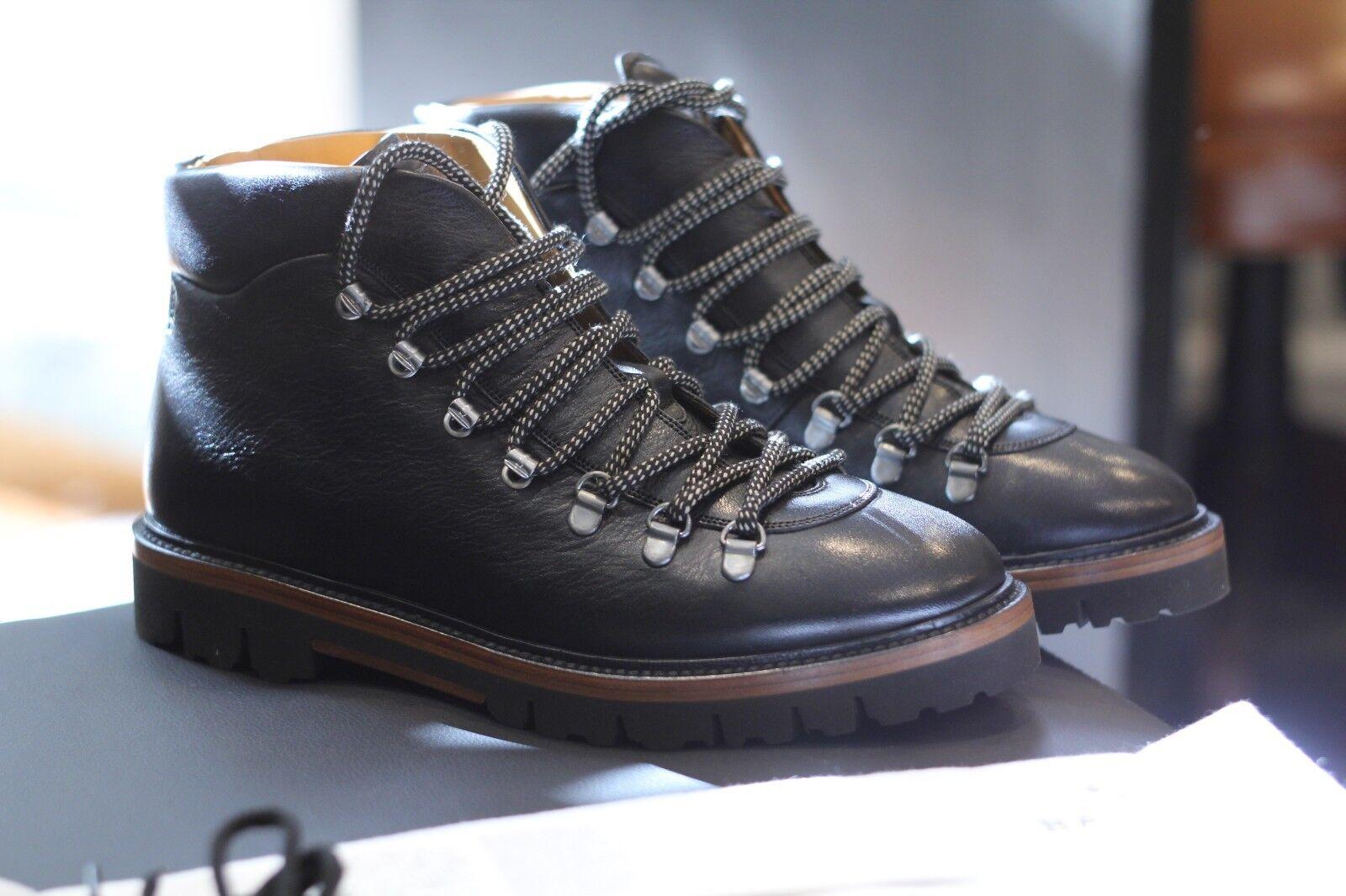 Bally Graf negro de piel de becerro Senderismo botas De Nieve Swiss Raro Descatalogado D