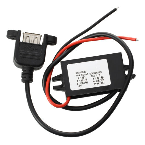 Inverter 12V Converter Transformer to DC 5V 3A DC Converter USB Connection Ca FP
