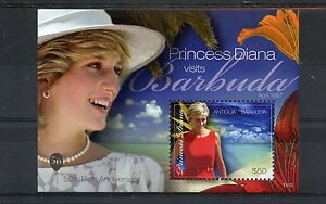 Antigua & Barbuda 2011 MNH Princess Diana Visits Barbuda 1v S/S High Value $50