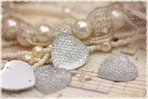 Brilliant 5pz Forma Cuore Applicazione Resina Strass Trasparente Due Fori Rotondo23*23.5mm In Pain Jewelry & Watches