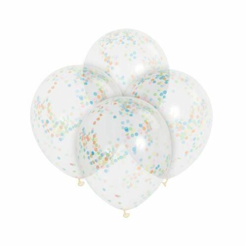 """Paquete De 6 X 12/"""" globos llenos de Confeti Fiesta de Cumpleaños Boda"""