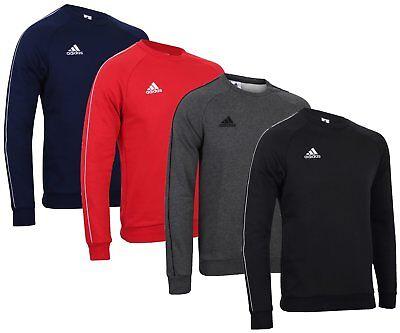 Adidas Mens Core Fleece Crew Training Sweatshirt Sports Overhead Gym Sweat Top Auf Der Ganzen Welt Verteilt Werden