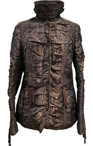 ESCADA-BRONZE-BROWN-RUCHED-JACKET-38-1450