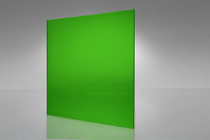 Green Transparent Acrylic Plexiglass Sheet 1 8 Quot X 12 Quot X 12