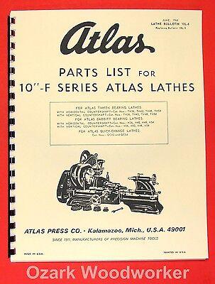 "Atlas Craftsman Manual of Lathe Operation Book for 10/"" Standard 0033"