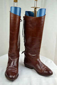 vintage Cavaliere Tbe Stivali 34 5 Brown Leather Gill's T dHwWgOFR