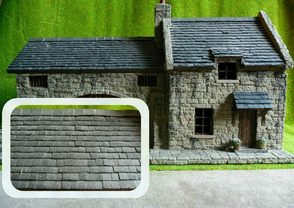 NEW  250 REAL SLATES 1 48th SCALE   BRITISH O GAUGE