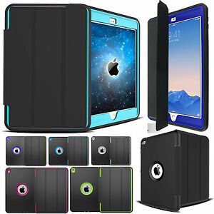 Shockproof-Heavy-Duty-Hard-Case-amp-Smart-Cover-for-iPad-Air-10-5-Pro-11-Mini-5-4