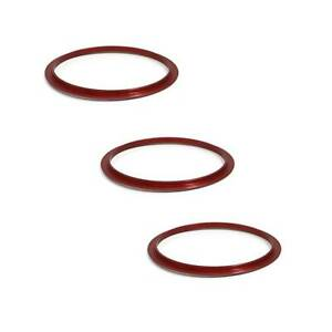 3X-Aluminum-AC-Climate-Control-Outer-Ring-Covers-For-Subaru-Impreza-WRX