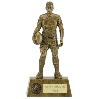 A1831A RESIN RUGBY TROPHY SIZE 15 CM FREE ENGRAVING