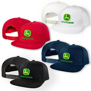 John-Deere-5-Panel-Baseball-Cap-Embroidered-Auto-Snapback-Mens-Tractor-Hip-Hop