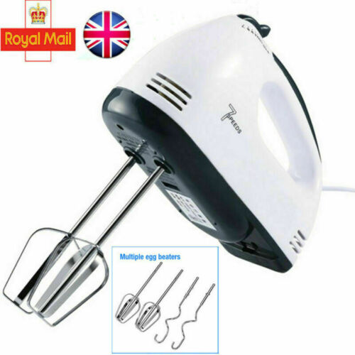Handheld Food Mixer Christmas Electric Stand Mixers Whisk Beater 7 Speed Blender