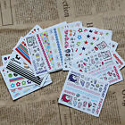 Sale 10pcs/set Mixed Styles Water Transfer Wraps Nail Art Stickers DIY Tips Deco