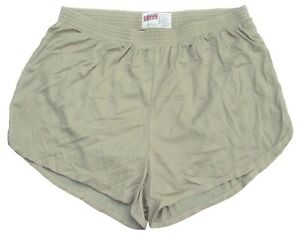 Soffe-Nylon-Ranger-Panties-Silkies-Running-Track-Shorts-in-Sand-Men-039-s-XL