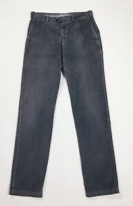 pantalone-uomo-usato-slim-usato-W32-tg-46-grigio-velluto-made-in-italy-T4655