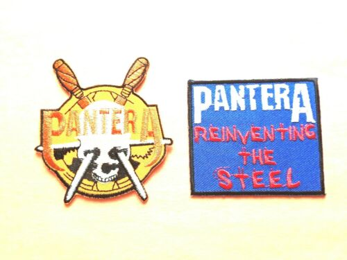 IRON ON CLASSIC ROCK MUSIC a TWO PANTERA PATCHES SEW