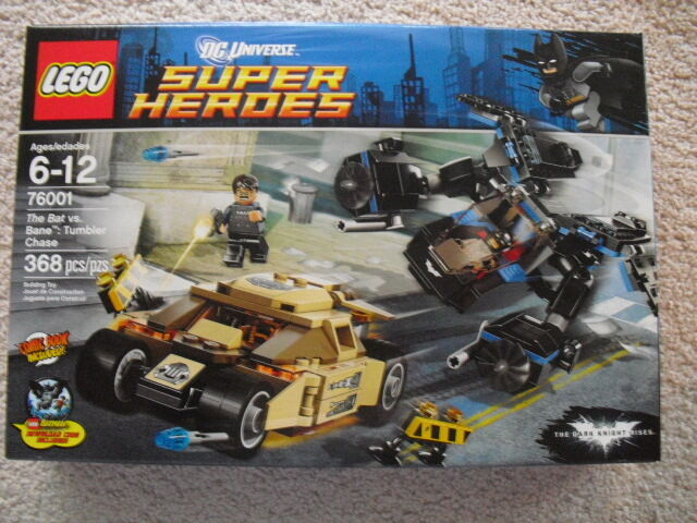 BATMAN - DC UNIVERSE SUPER HEROES THE BAT vs BANE TUMBLER CHASE LEGO SET 76001