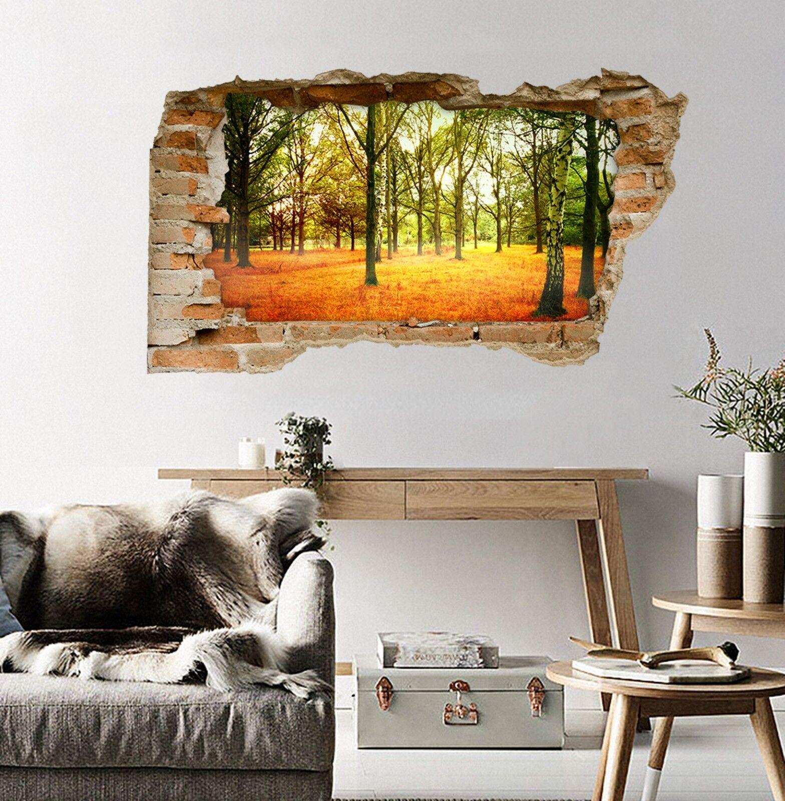 3D Bäume Unkraut 04 Mauer Murals Mauer Aufklebe Decal Durchbruch AJ WALLPAPER DE