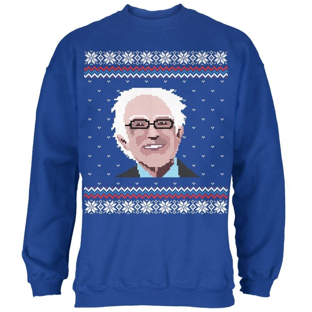 Election Bernie Sanders Ugly Xmas Sweater Royal Adult Sweatshirt