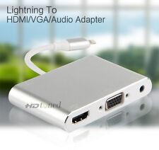 lightning to HDMI VGA Audio Converter For iphone 6 6S 7 Plus 5 5S ipad Video TV