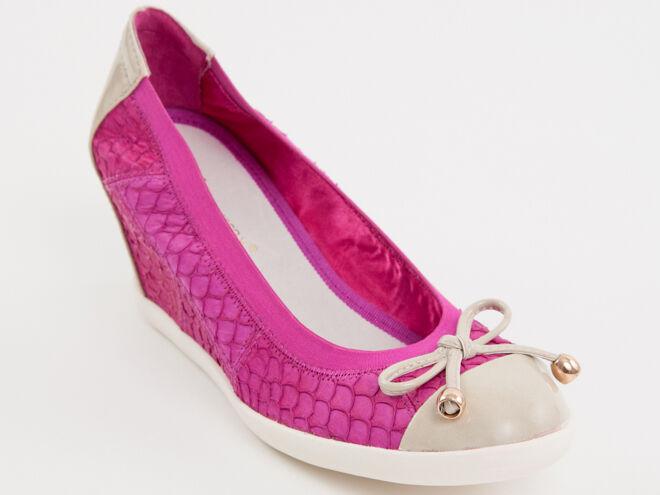 New  Francesco V.Pink Denim  Made in Italy  Scarpe Size 38 US 8