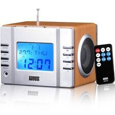 Classic Style Alarm Clock Radio MP3 Stereo System with SD Card Reader & USB