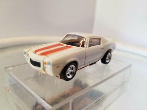 1970 Chevy Camaro White//Orange T-Jet 500  Ho Slot Car W//Custom Wheels