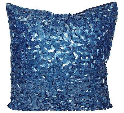 Heine Kissenbezug blau Pailletten 50 x 50 Kissenhülle Dekokissen