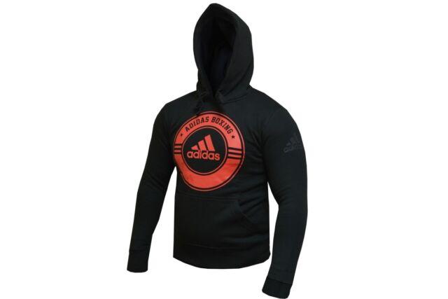 Adidas Boxing Hoody Black Red Gym Casual Training Hoodie Mens