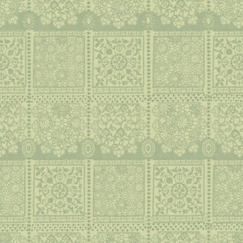 SALE 100/% Cotton Patchwork Fabric Inprint Lustrous Lacey Floral Tile Print