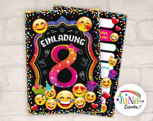 12 Einladungskarten zum 8 Kindergeburtstag achte Einladung für Mädchen