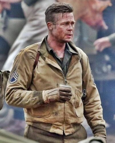 Fury Brad Army kaki color di uomo Bomber da Military cotone Giacca Us in Pitt w08Z87