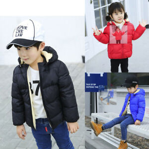 4c8a8c8e9a1e Child Kids Girl Boy Winter Hooded Coat Cloak Jacket Thick Warm ...