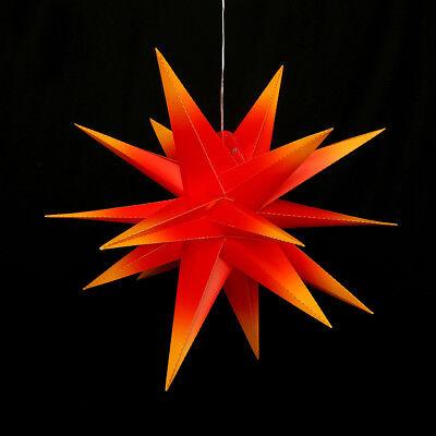 Außenstern Komplettset Adventsstern Weihnachtsstern 3D Gartenstern 60 cm NEU