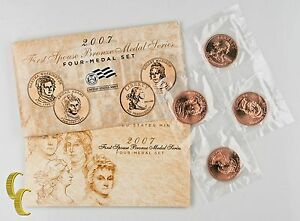 2007-First-Spouse-Bronze-Medal-Series-4-Medal-Set-US-Mint