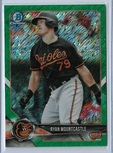 2018-Bowman-Chrome-Green-Shimmer-Parallel-Ryan-Mountcastle-87-99-Baltimore