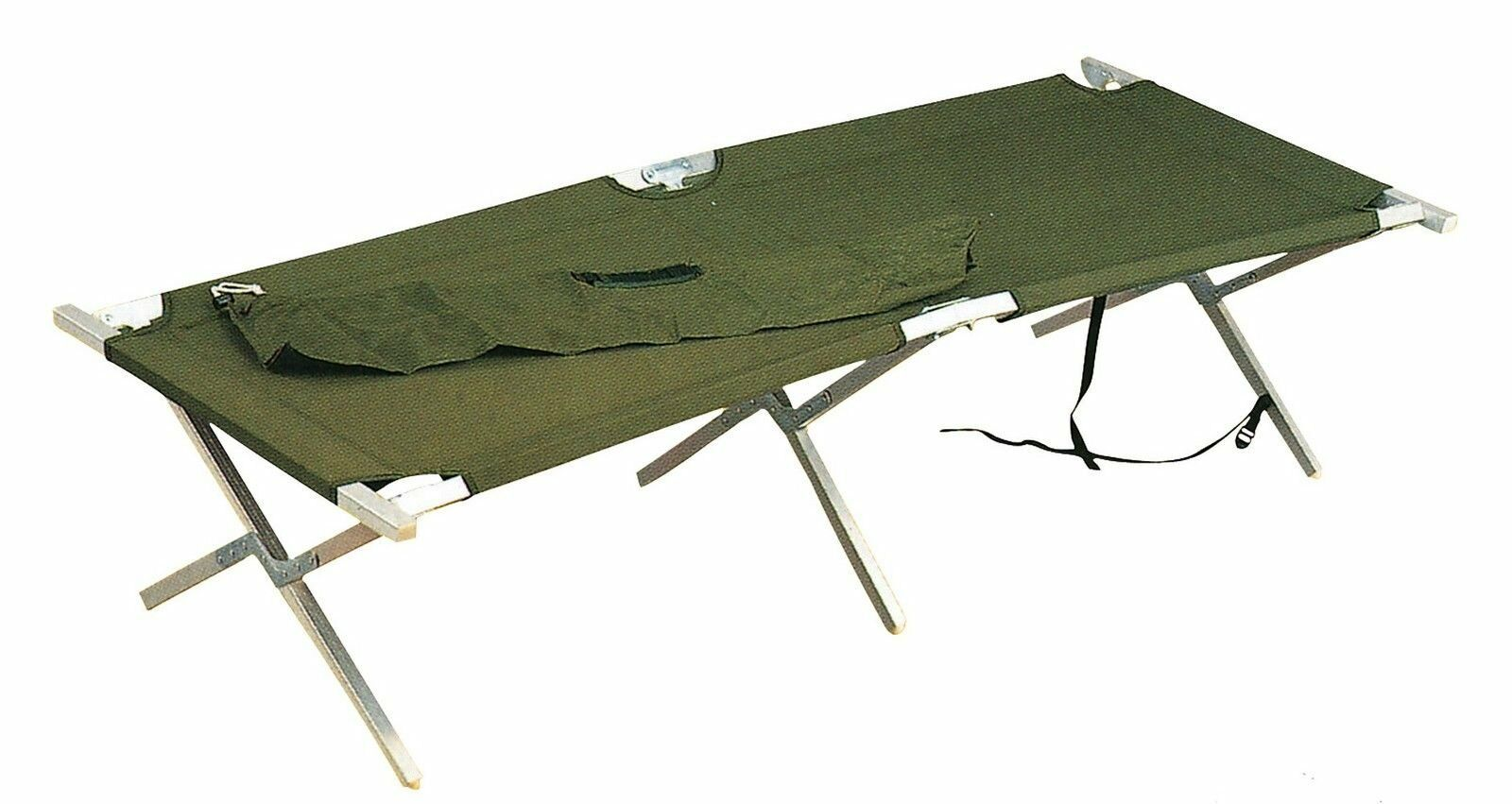 G.I. Type Aluminum Folding Cot w  Carry Case 4579 redhco