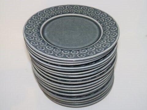 Porcelæn, Azur  Kagetallerken 17 cm.,