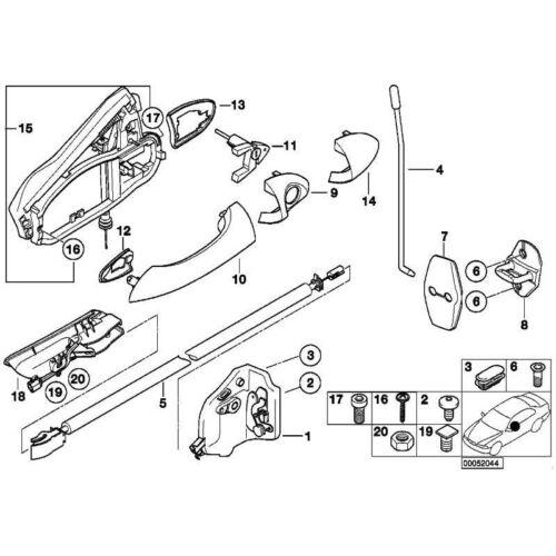 ORIGINALE BMW 07119919723-Vite a testa cilindrica m5x20-ka-8.8 3er x5
