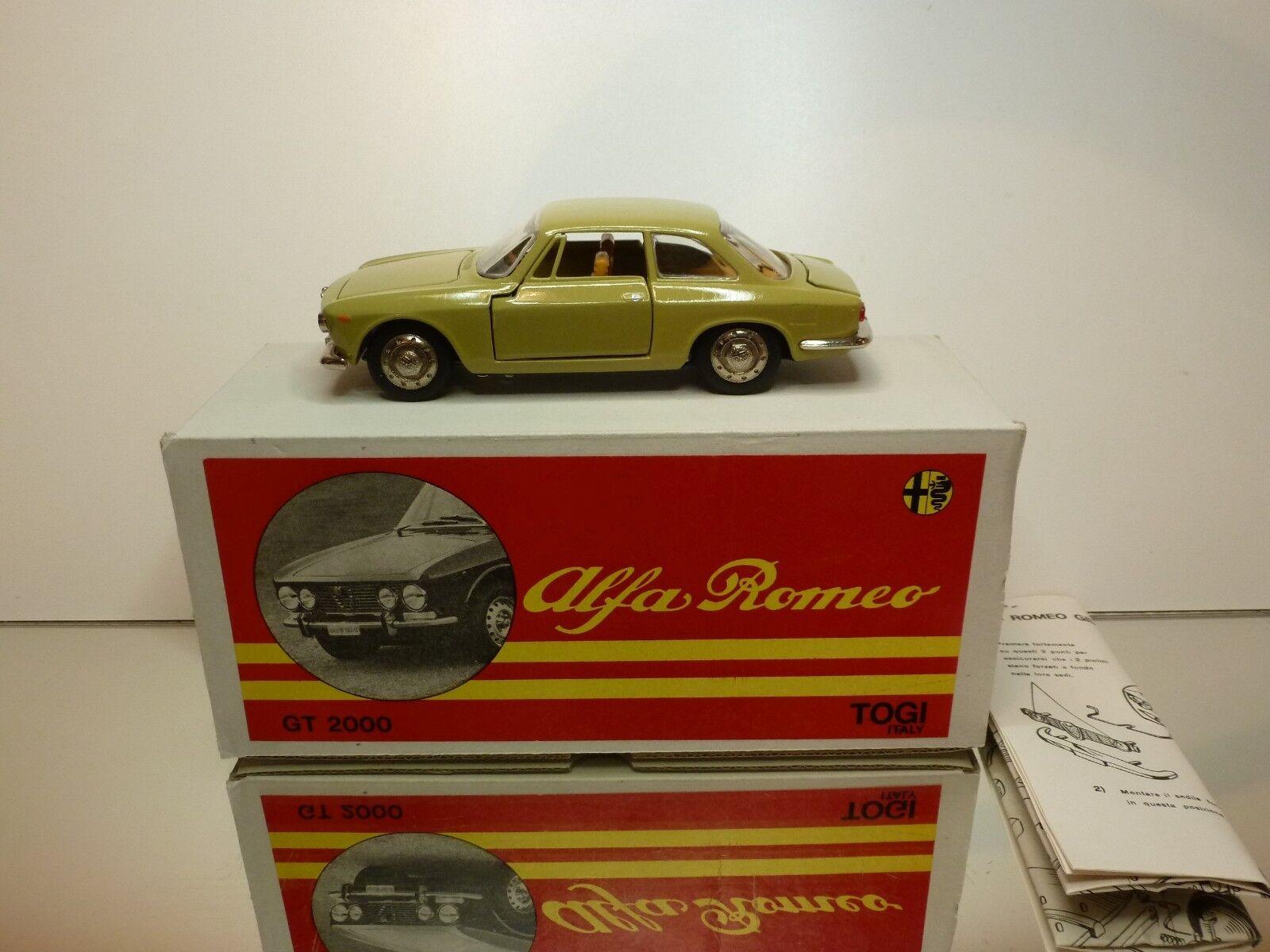 TOGI 8 65 ALFA ROMEO GIULIA GT 2000 - MUSTARD 1 23 - GOOD CONDITION IN BOX