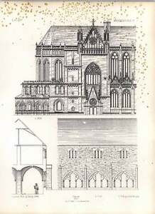 Gothic-Magdeburgh-Church-Elevation-Northside-Choir-With-Transept-Cloisters