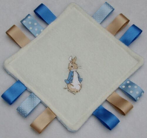 Peter Rabbit Taggy Blanket Comforter CAN BE PERSONALISED Beautiful Baby Gift