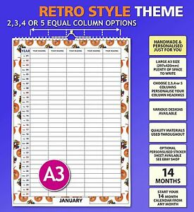 Details about Family Organiser Calendar 2019 2020 2021 Mums Wall Hanging  Monthly Planner