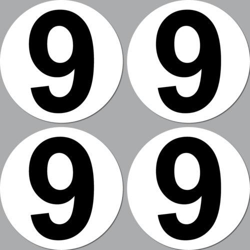 4 Pegatina 15cm Start Número 7 Cifra Coche Carreras de Kart Gokart