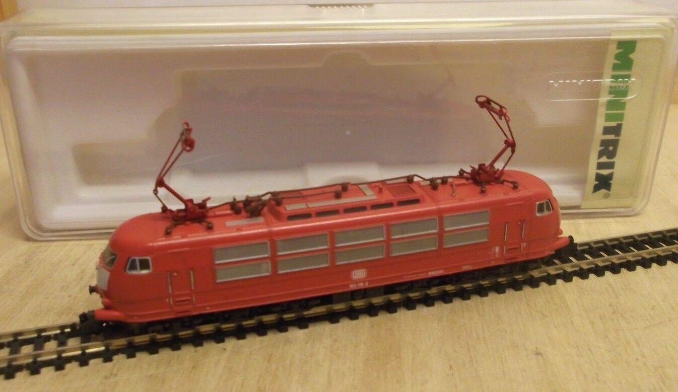 Minitrix Minitrix Minitrix N 12933 E-Lok 12933 BR 103 db NEW RED SPOTLESS BOXED 15db0d