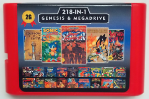 Super-218-in-1-Sega-Genesis-amp-Mega-Drive-Multi-Cart-16-Bit-Game-Cartridge